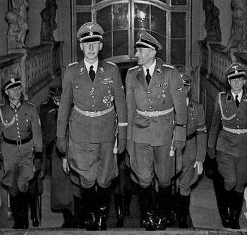 Reinhard Heydrich with Carl Hermann Frank.jpg