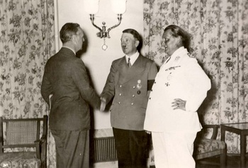 Ribbentrop Hitler Goering,Berlin, Germany, August 1939.jpg