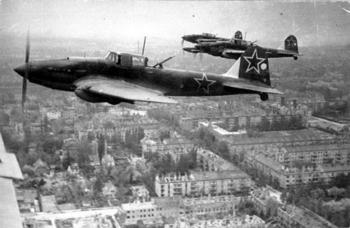 Soviet Il-2s in the skies above Berlin.jpg