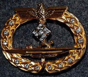 Special Class of the U-Boat War Badge uniquely awarded to Grand Admiral Karl Dönitz.jpg