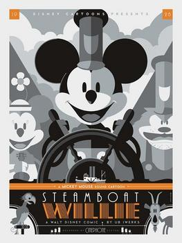 Steamboat Willie Poster by Tom Whalen.jpg