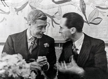 The Duke of Windsor chats to Hitler's propaganda chief Joseph Goebbels at a party in Berlin.jpg
