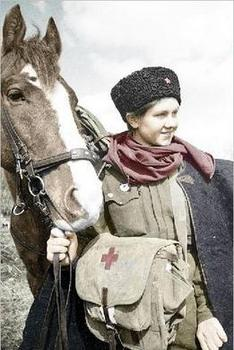 ww2 medic with her horse.jpg